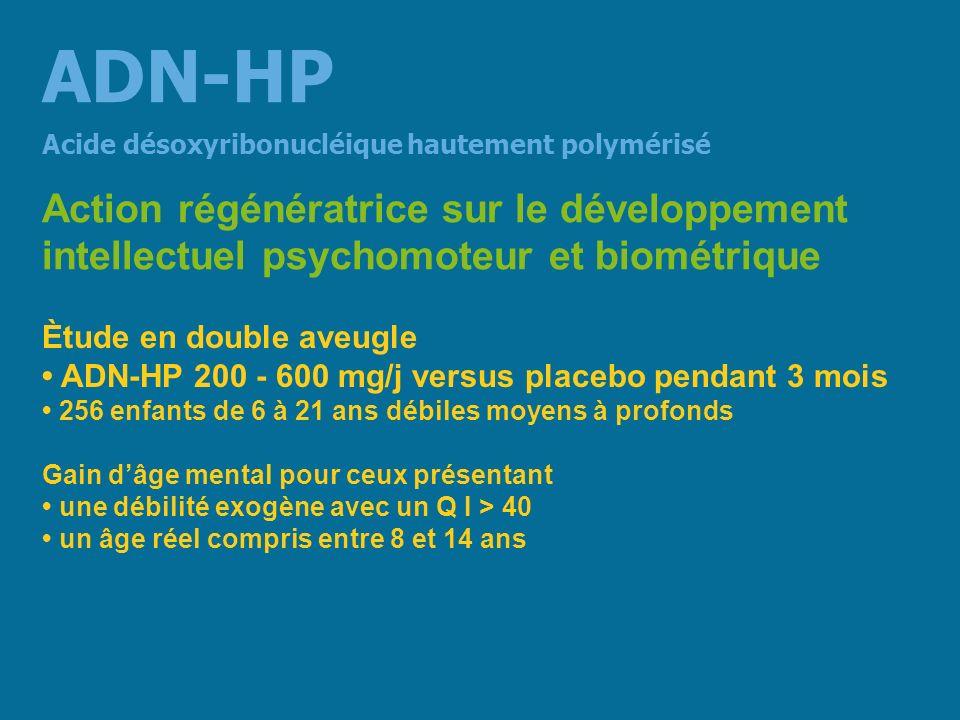 ADN-HP Action régénératrice sur le développement