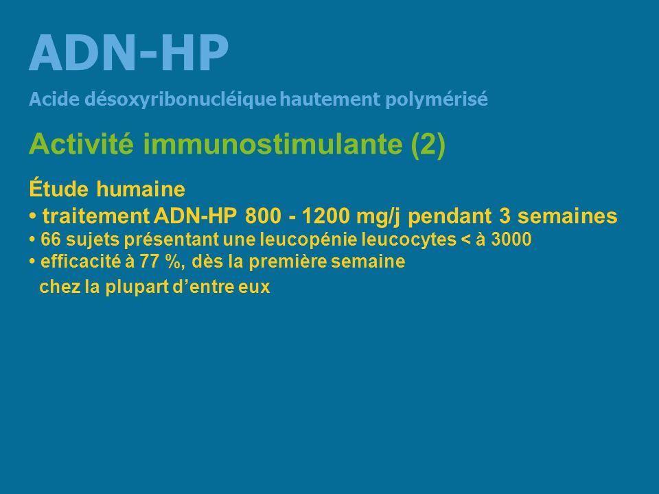 ADN-HP Activité immunostimulante (2) Étude humaine