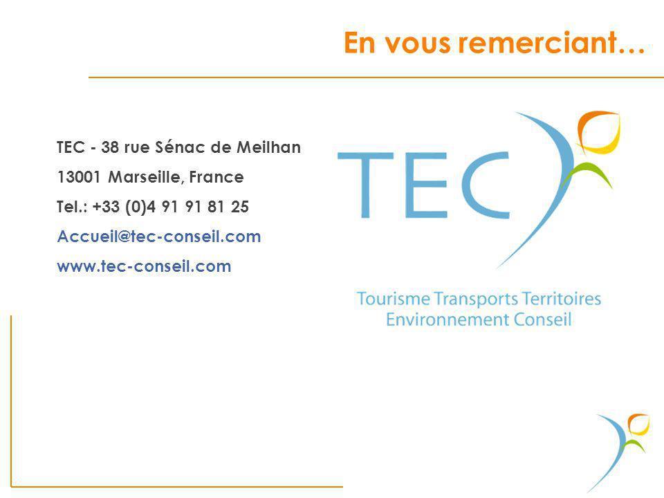 En vous remerciant… TEC - 38 rue Sénac de Meilhan