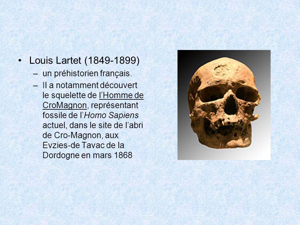Louis Lartet (1849-1899) un préhistorien français.