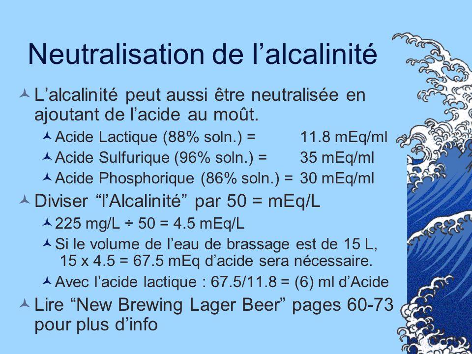 Neutralisation de l'alcalinité