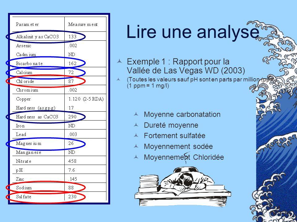 Lire une analyse Exemple 1 : Rapport pour la Vallée de Las Vegas WD (2003)