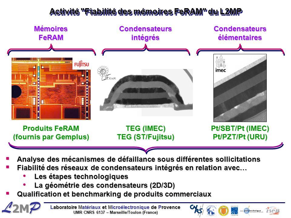 Activité Fiabilité des mémoires FeRAM du L2MP