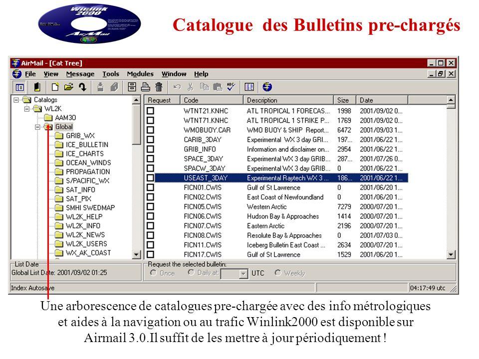 Catalogue des Bulletins pre-chargés
