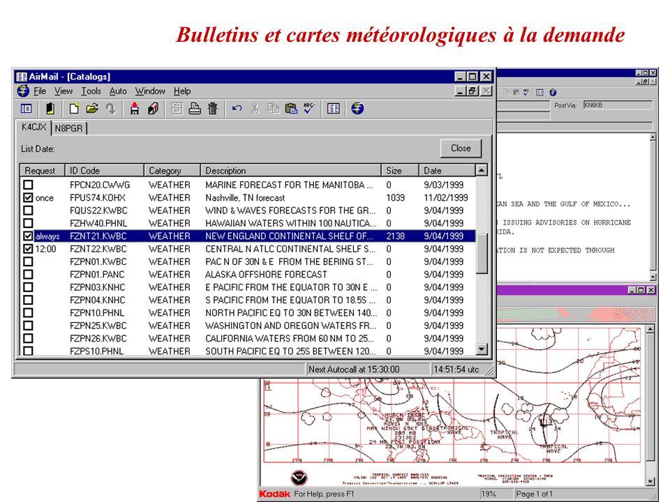 Bulletins et cartes météorologiques à la demande