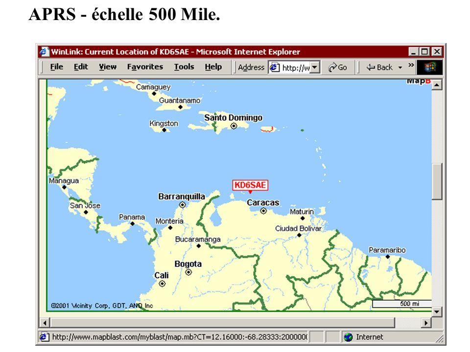 APRS - échelle 500 Mile.