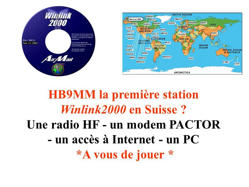 HB9MM la première station Winlink2000 en Suisse