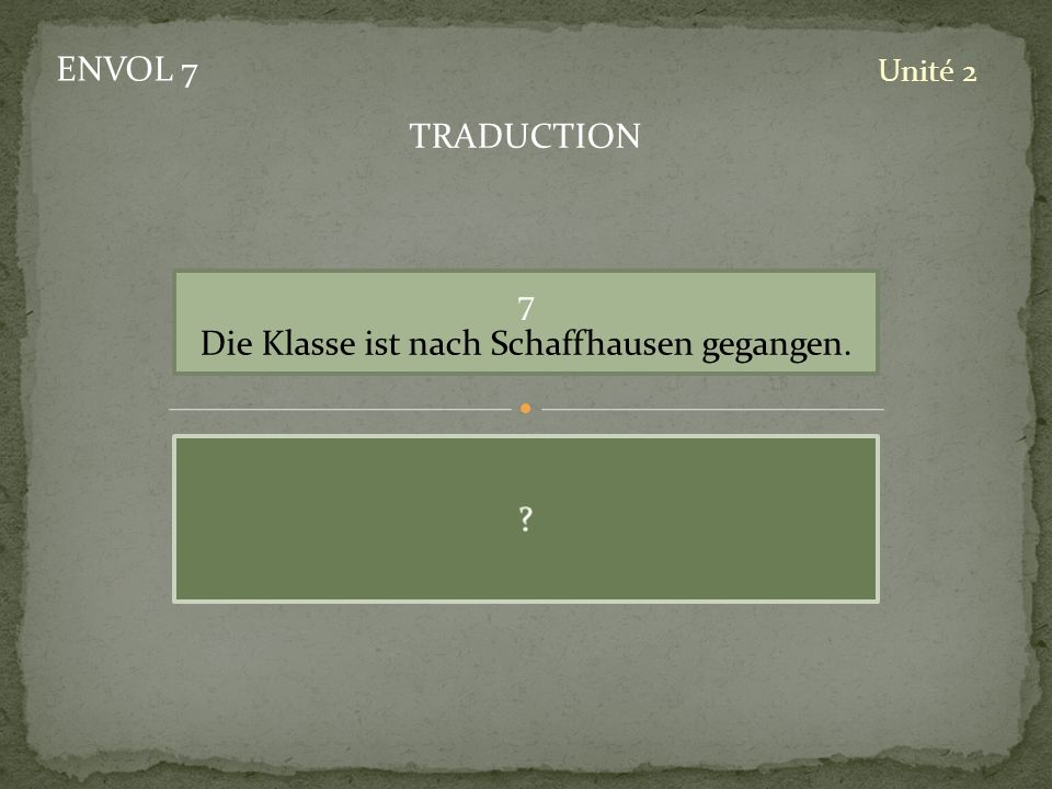 Die Klasse ist nach Schaffhausen gegangen.