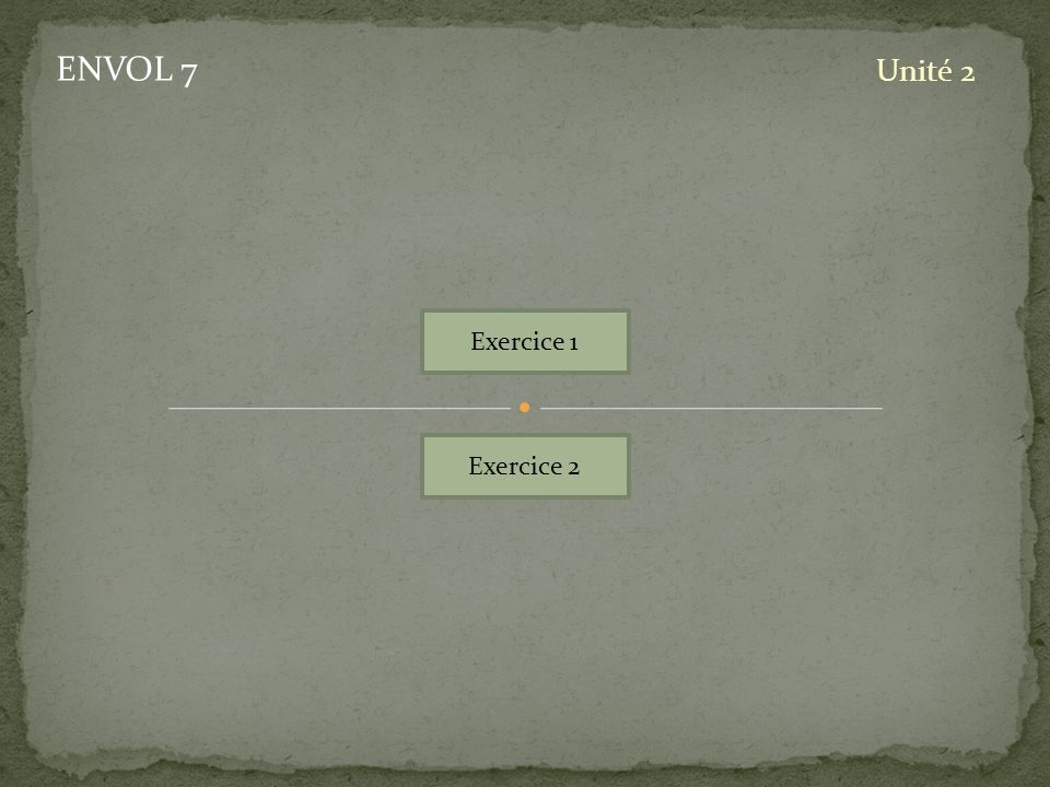 Exercice 1 Exercice 2