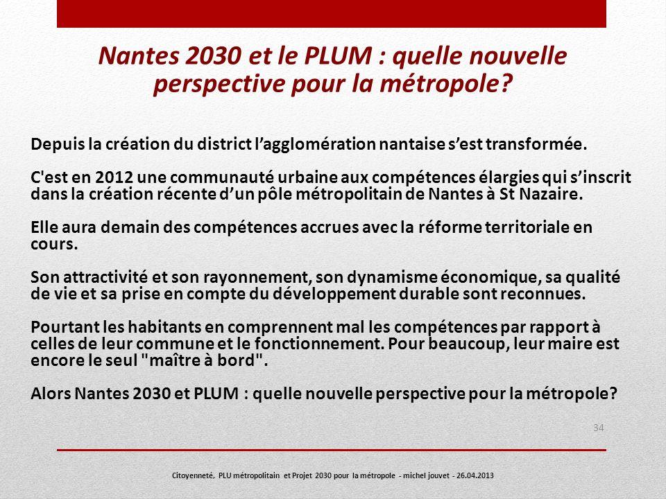 Nantes 2030 et le PLUM : quelle nouvelle perspective pour la métropole
