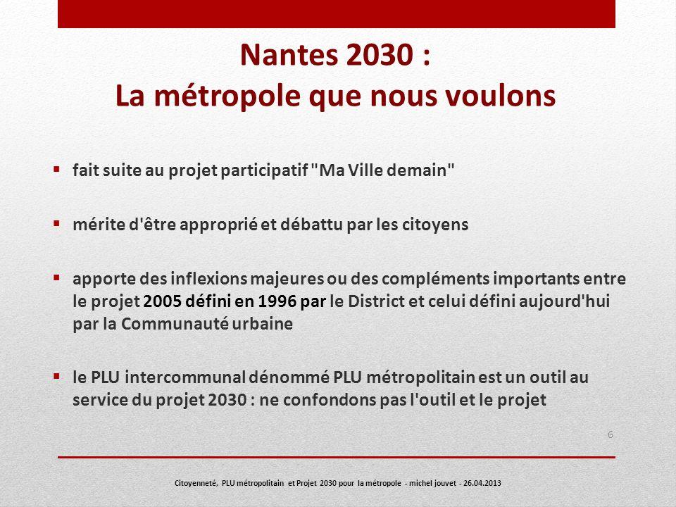 Nantes 2030 : La métropole que nous voulons