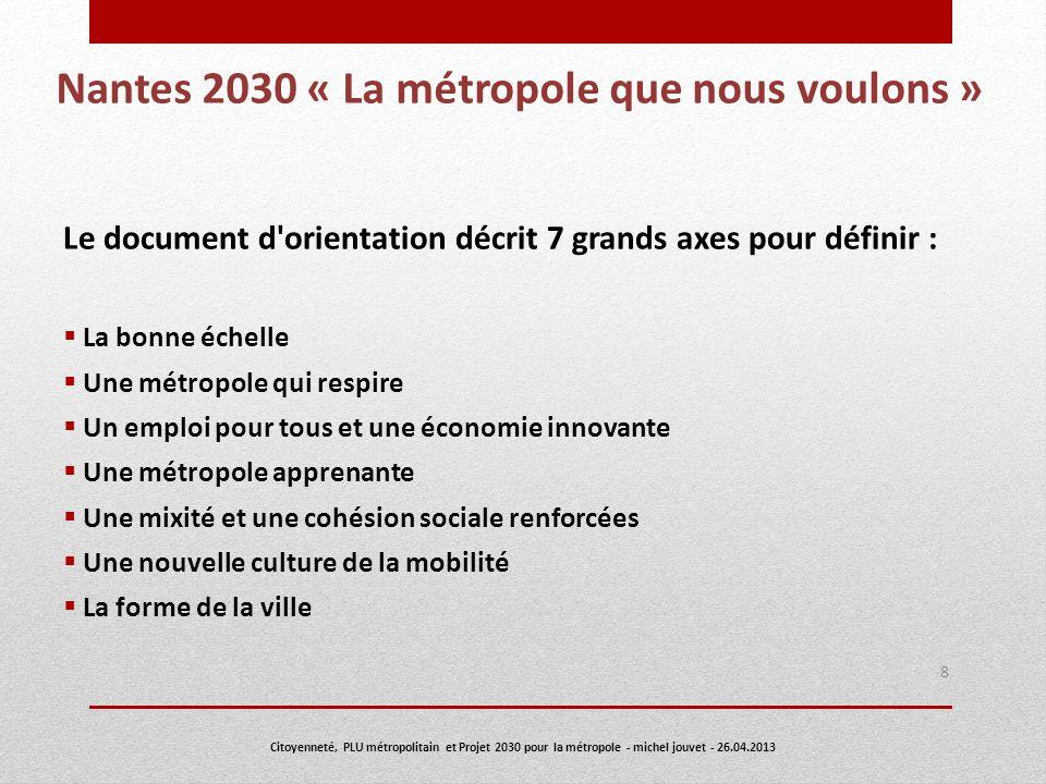 Nantes 2030 « La métropole que nous voulons »