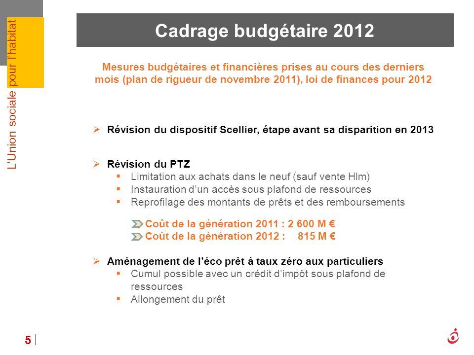 Cadrage budgétaire 2012