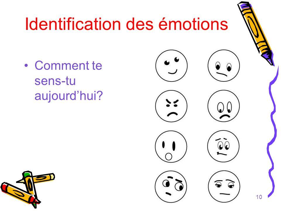 Identification des émotions