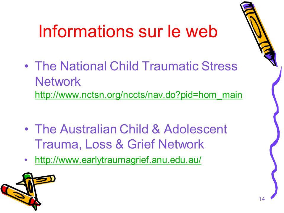 Informations sur le web