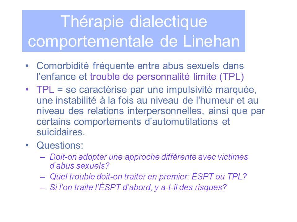 Thérapie dialectique comportementale de Linehan