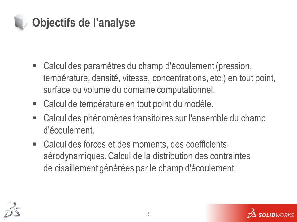 Objectifs de l analyse