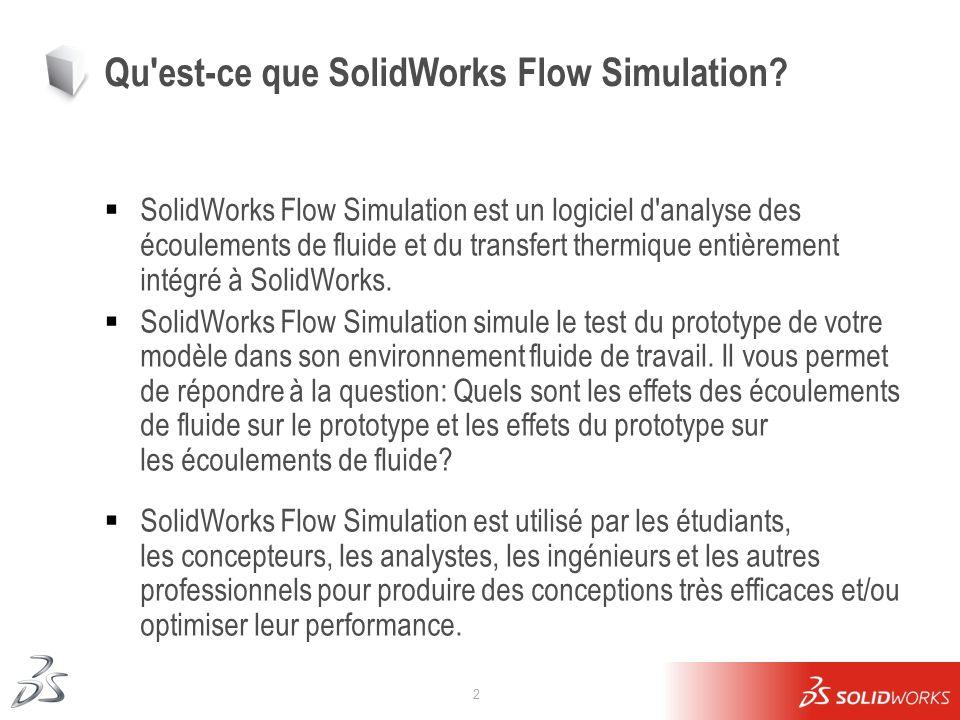 Qu est-ce que SolidWorks Flow Simulation