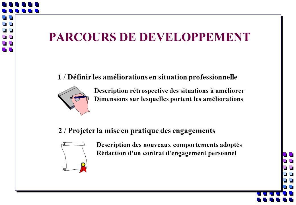 PARCOURS DE DEVELOPPEMENT