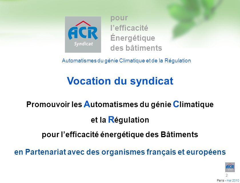 Vocation du syndicat pour l'efficacité Énergétique des bâtiments