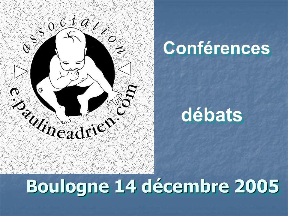 Conférences débats Boulogne 14 décembre 2005