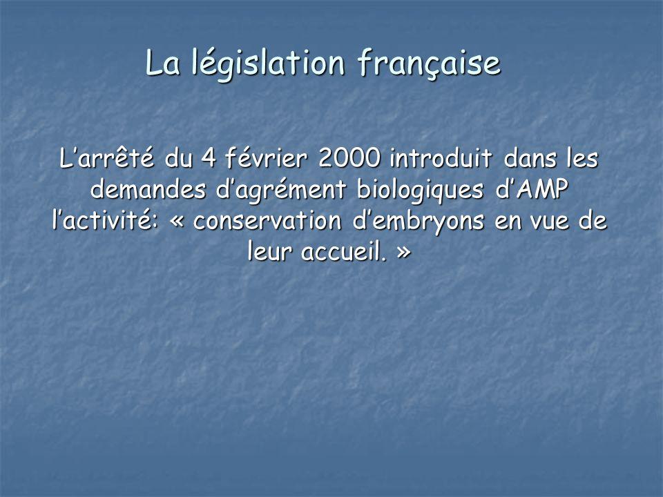 La législation française
