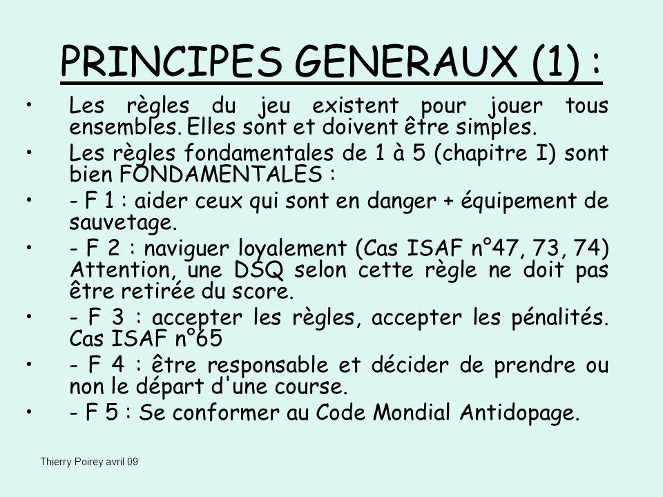 PRINCIPES GENERAUX (1) :