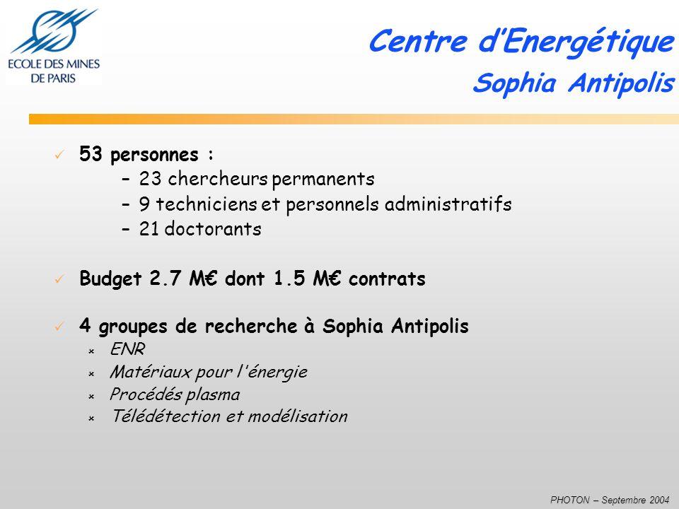 Centre d'Energétique Sophia Antipolis