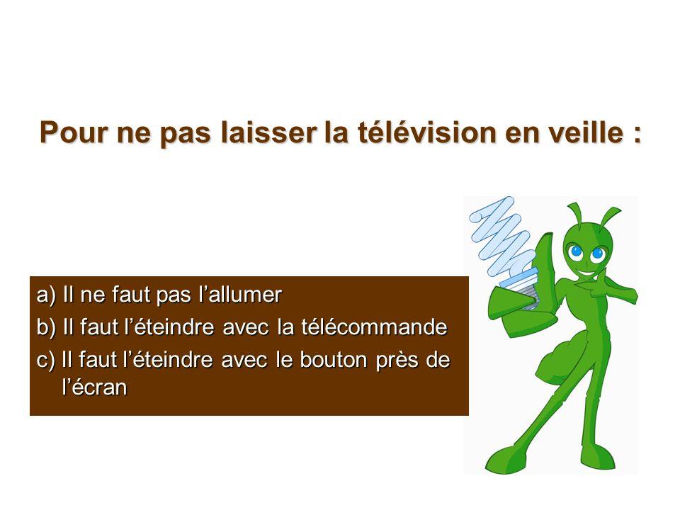 Pour ne pas laisser la télévision en veille :