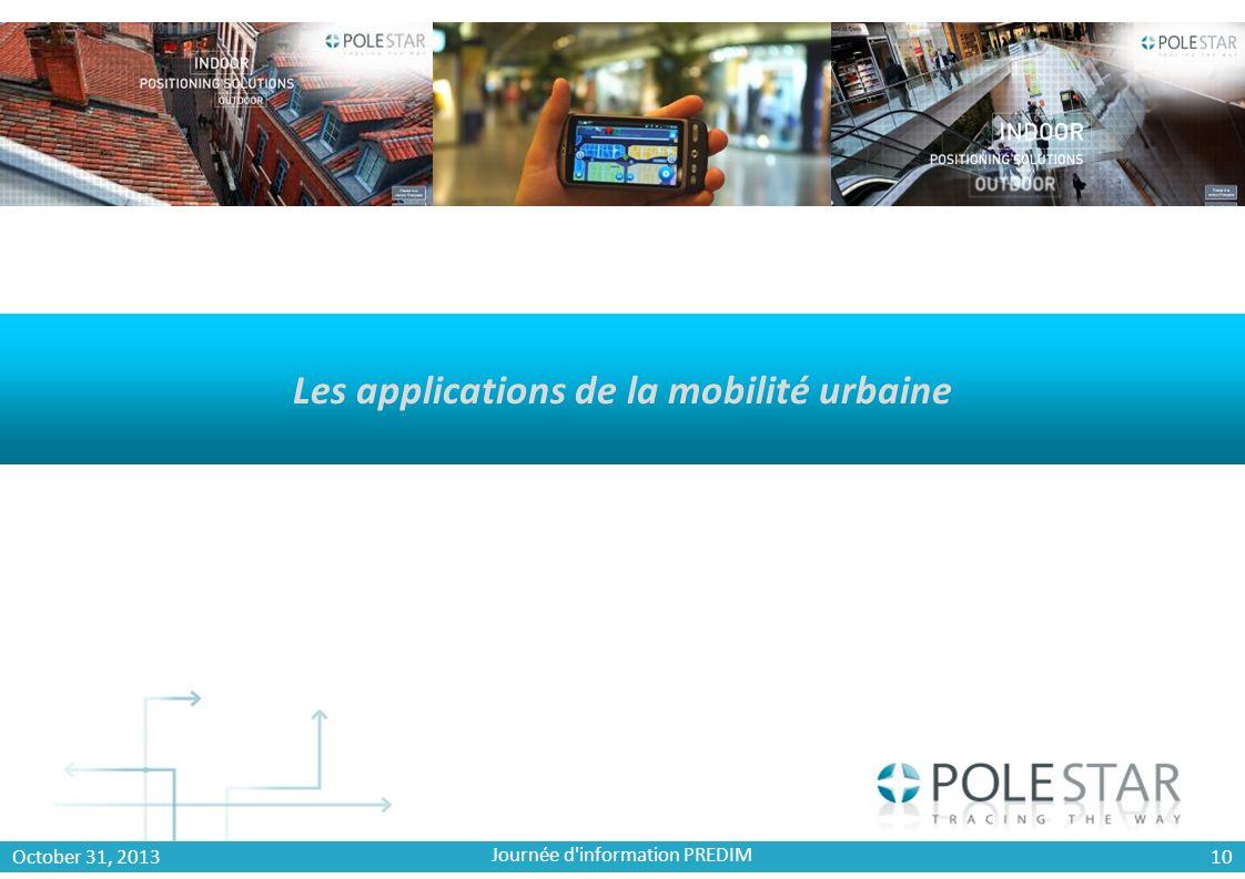 Les applications de la mobilité urbaine