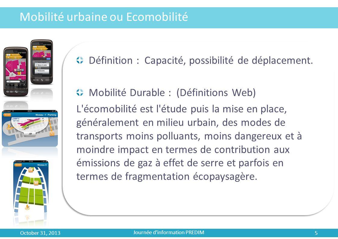Mobilité urbaine ou Ecomobilité