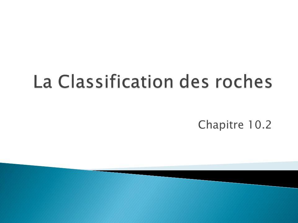 La Classification des roches