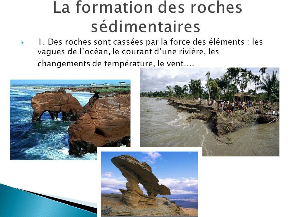 La formation des roches sédimentaires