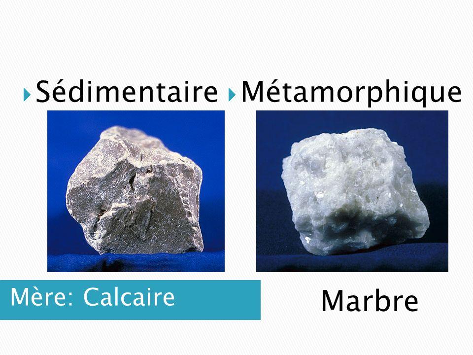Sédimentaire Métamorphique Mère: Calcaire Marbre