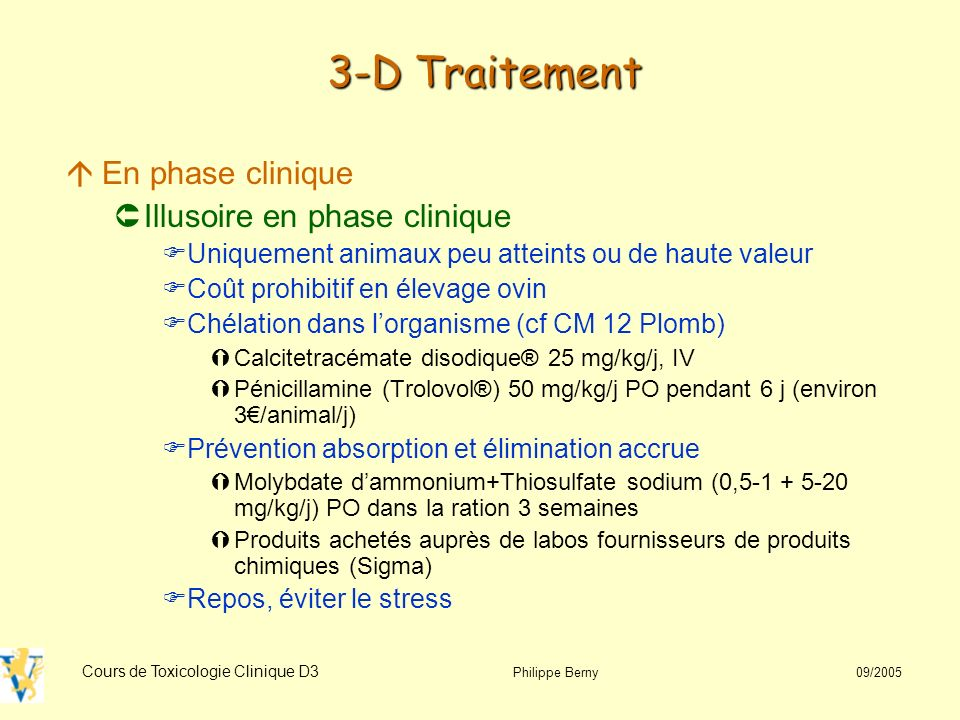3-D Traitement En phase clinique Illusoire en phase clinique