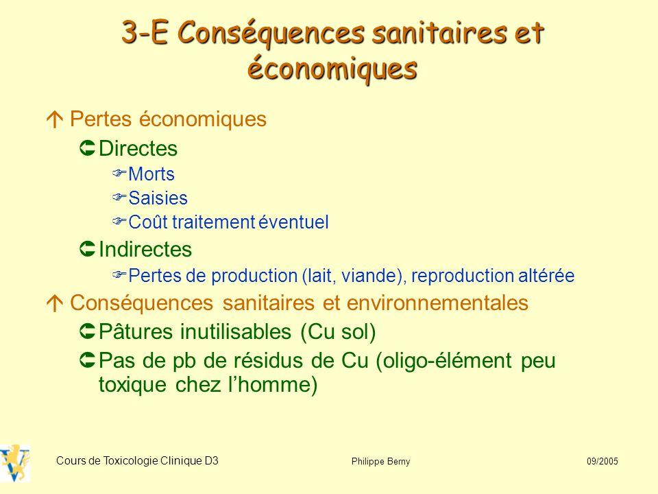 3-E Conséquences sanitaires et économiques