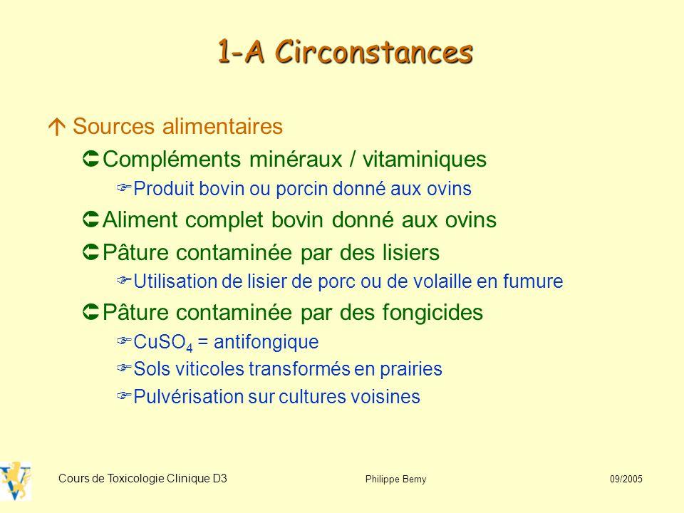 1-A Circonstances Sources alimentaires
