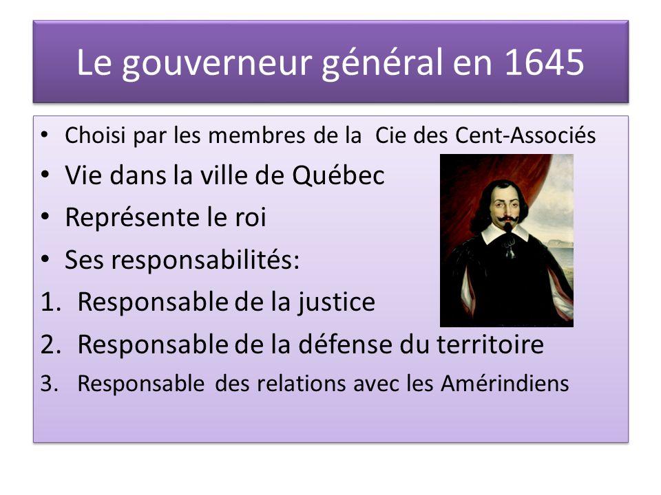 Le gouverneur général en 1645
