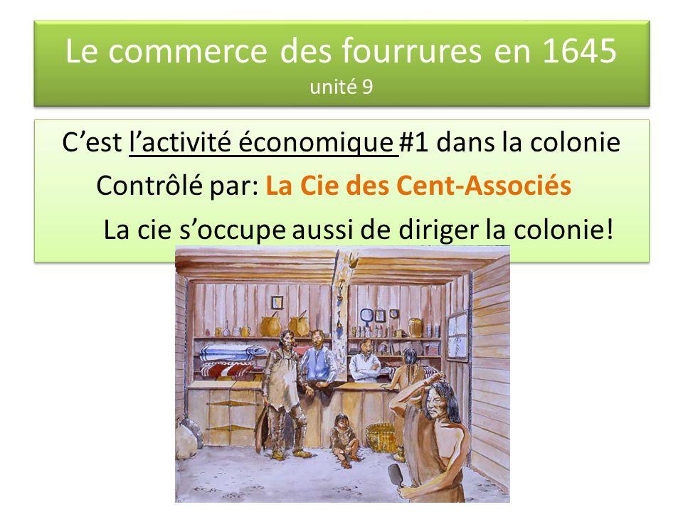 Le commerce des fourrures en 1645 unité 9