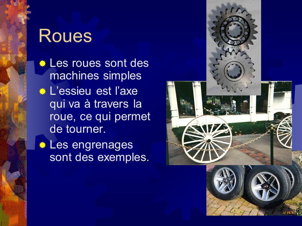 Roues Les roues sont des machines simples