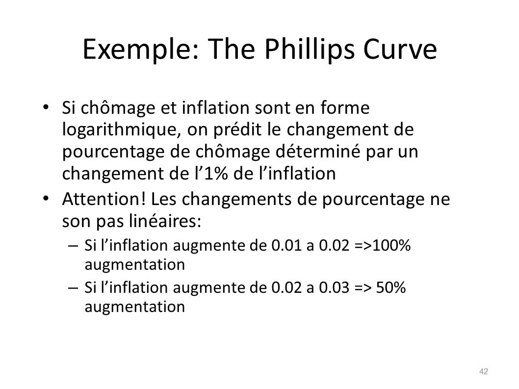 Exemple: The Phillips Curve