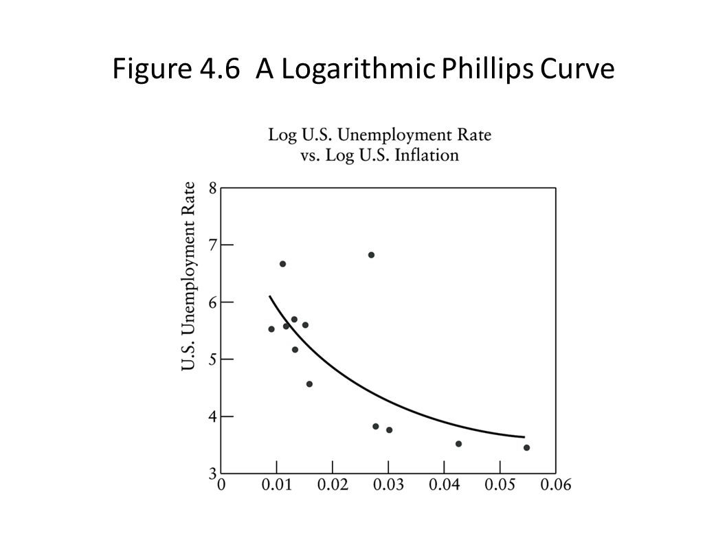 Figure 4.6 A Logarithmic Phillips Curve