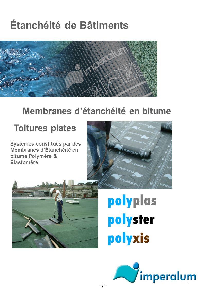 polyplas polyster polyxis Étanchéité de Bâtiments