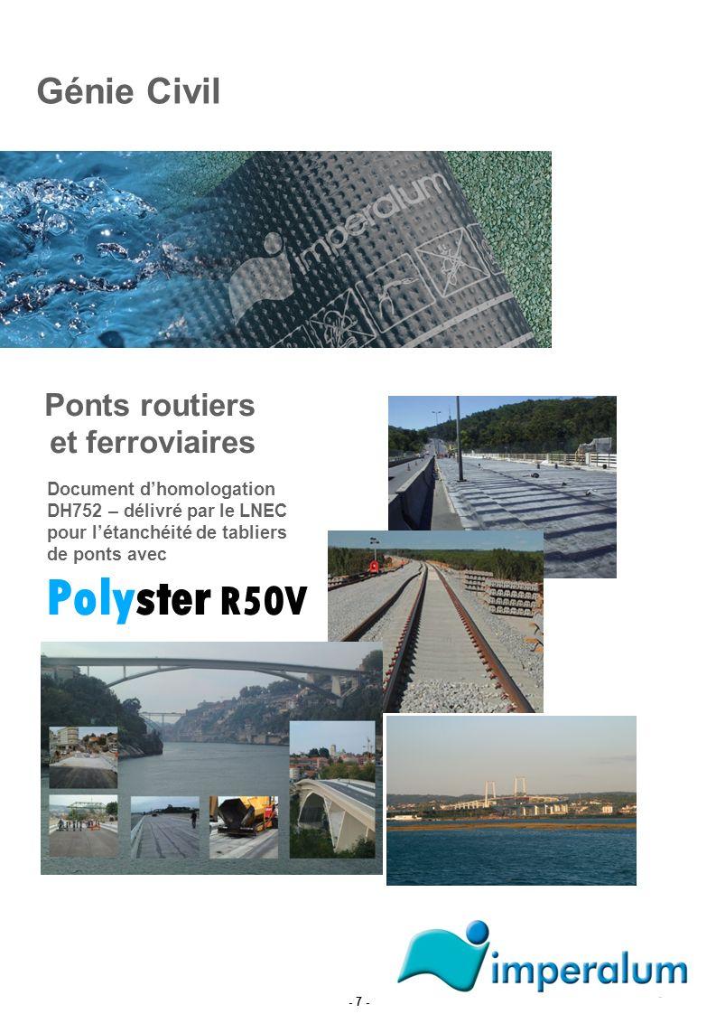 Polyster R50V Génie Civil Ponts routiers et ferroviaires