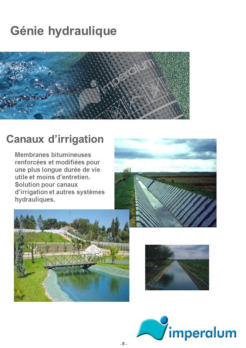 Génie hydraulique Canaux d'irrigation
