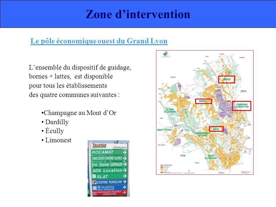 Zone d'intervention Le pôle économique ouest du Grand Lyon