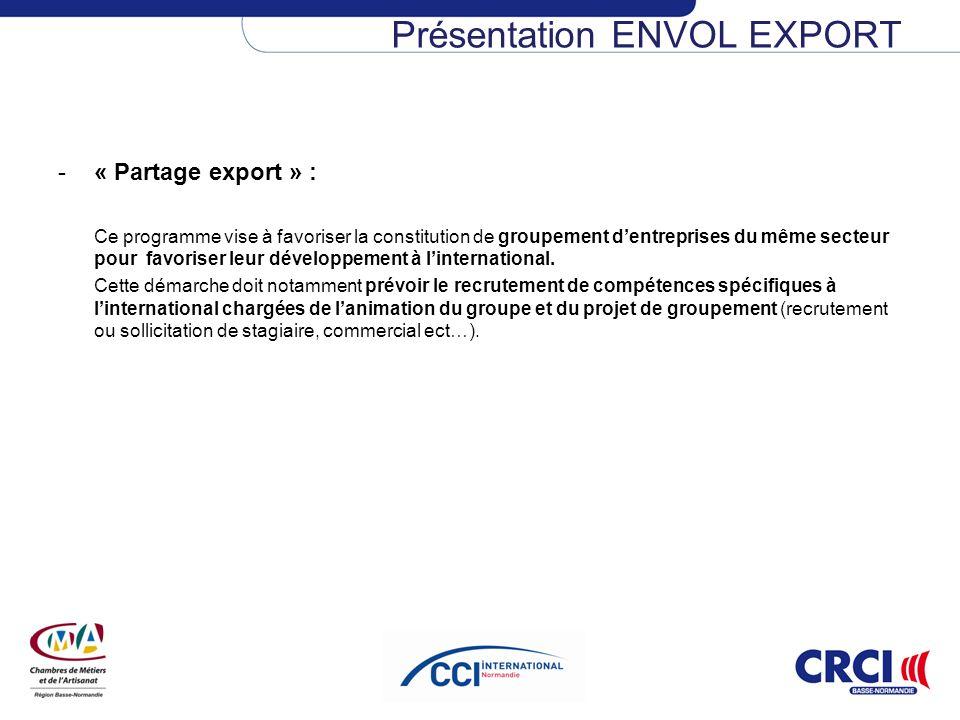 Présentation ENVOL EXPORT