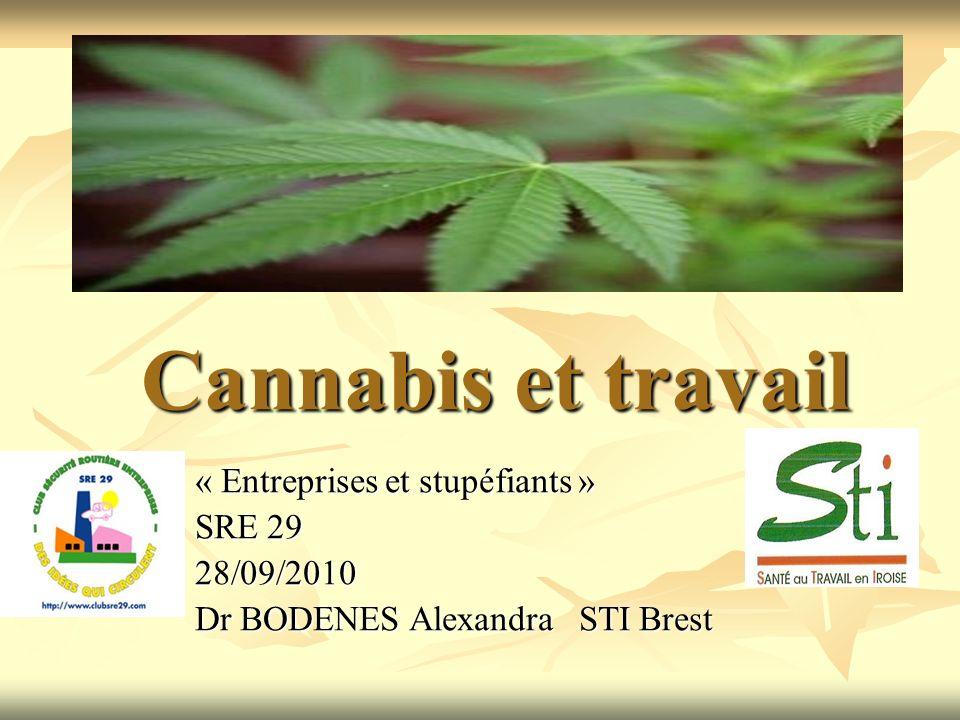 Cannabis et travail « Entreprises et stupéfiants » SRE 29 28/09/2010