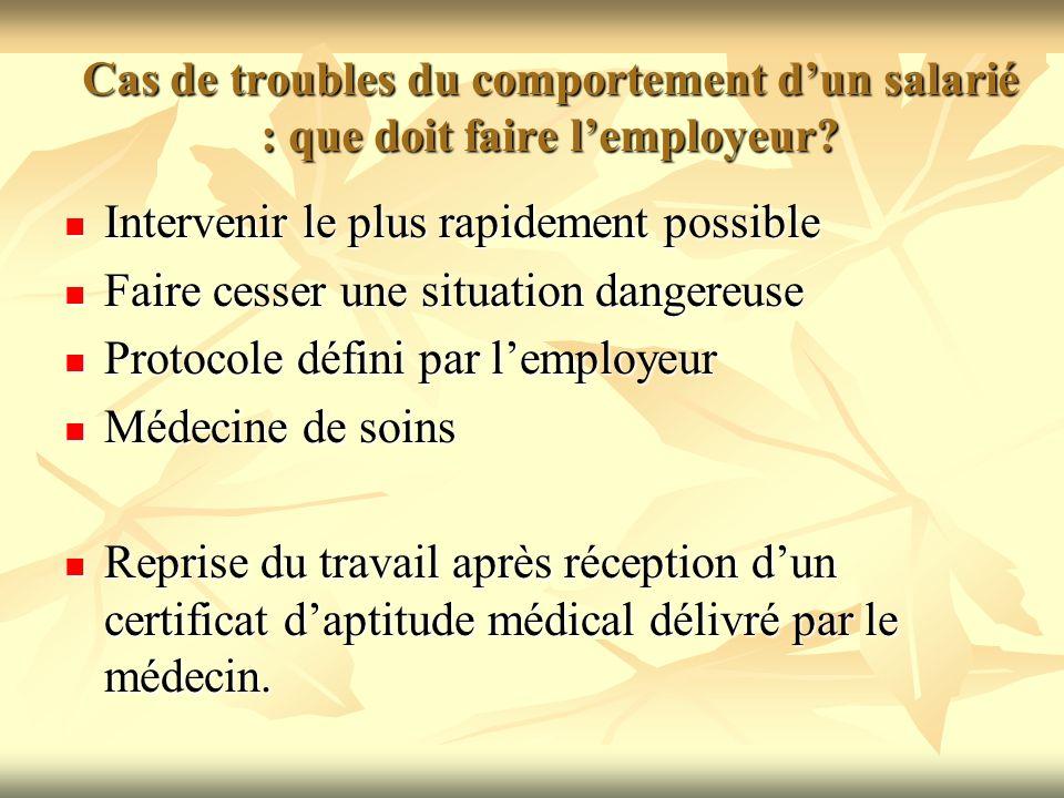 Cas de troubles du comportement d'un salarié : que doit faire l'employeur