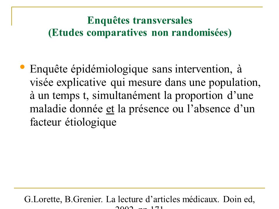 analyse critique d u0026 39 article etudes non interventionnelles